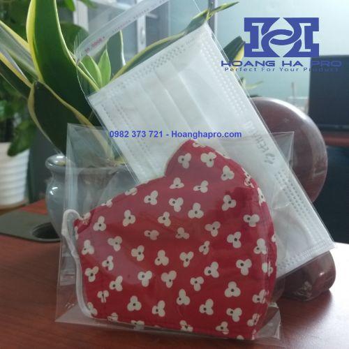 Túi Bóng Kính Đựng Khẩu Trang - Túi OPP Băng Keo